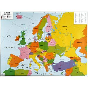 carte-europe-physique-et-politique-plastifiee